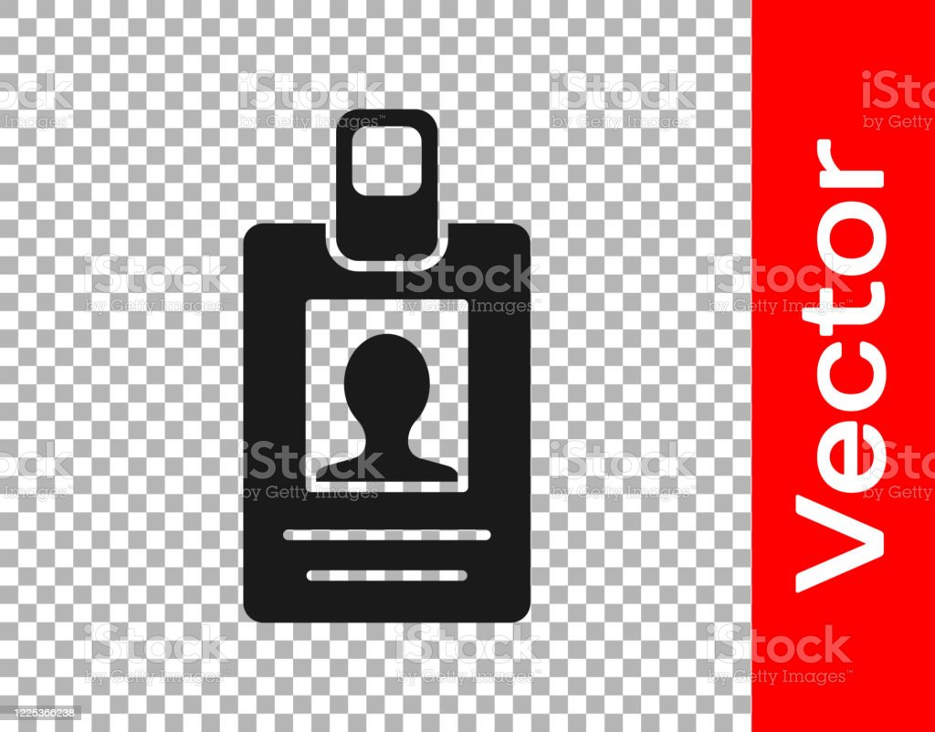 black identification badge icon isolated on transparent background it can be used for presentation identity of the company advertising vector illustration stock illustration download image now istock https www istockphoto com vector black identification badge icon isolated on transparent background it can be used gm1225366238 360642502