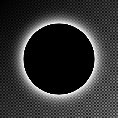 Black illuminated circle vector image. The EPS file is organised into layers for easy editing.