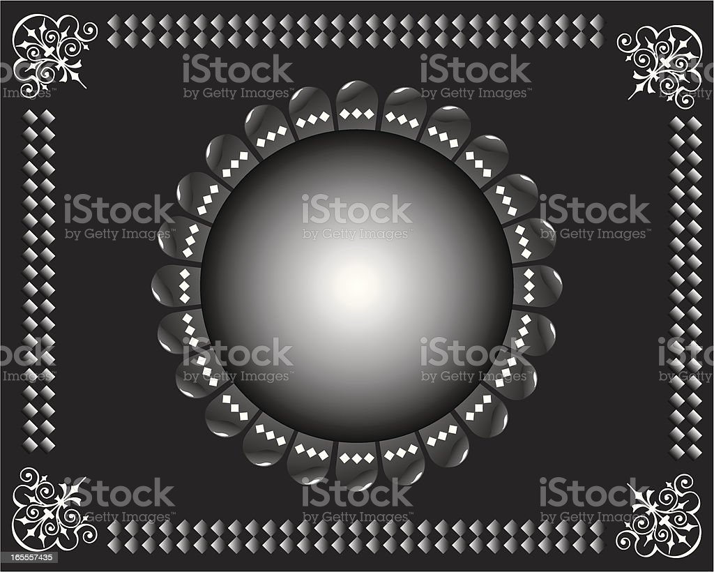 Box illustrazione nero royalty-free stock vector art