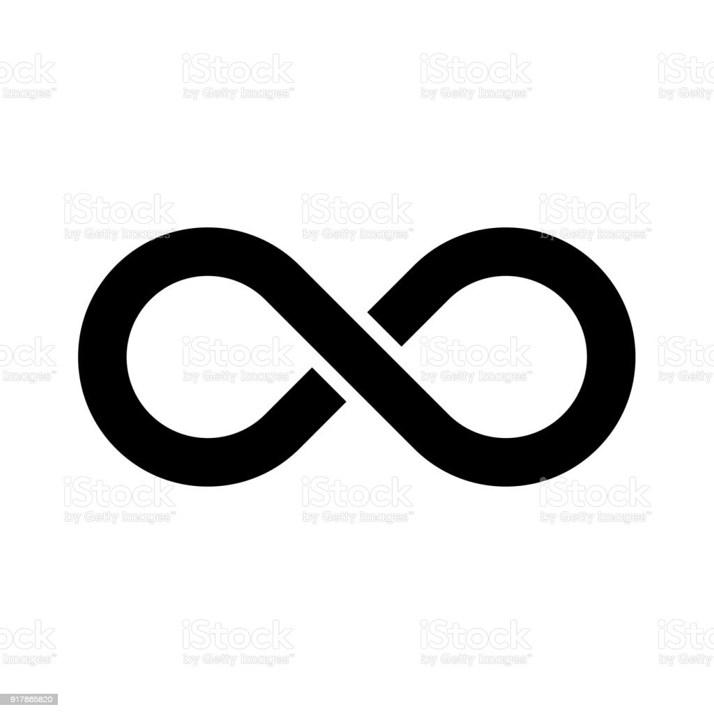 black infinity symbol icon simple flat vector design element stock rh istockphoto com infinity symbol vector art free infinity symbol vector free