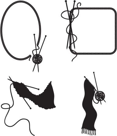 Black Ink Knitting (Vector)