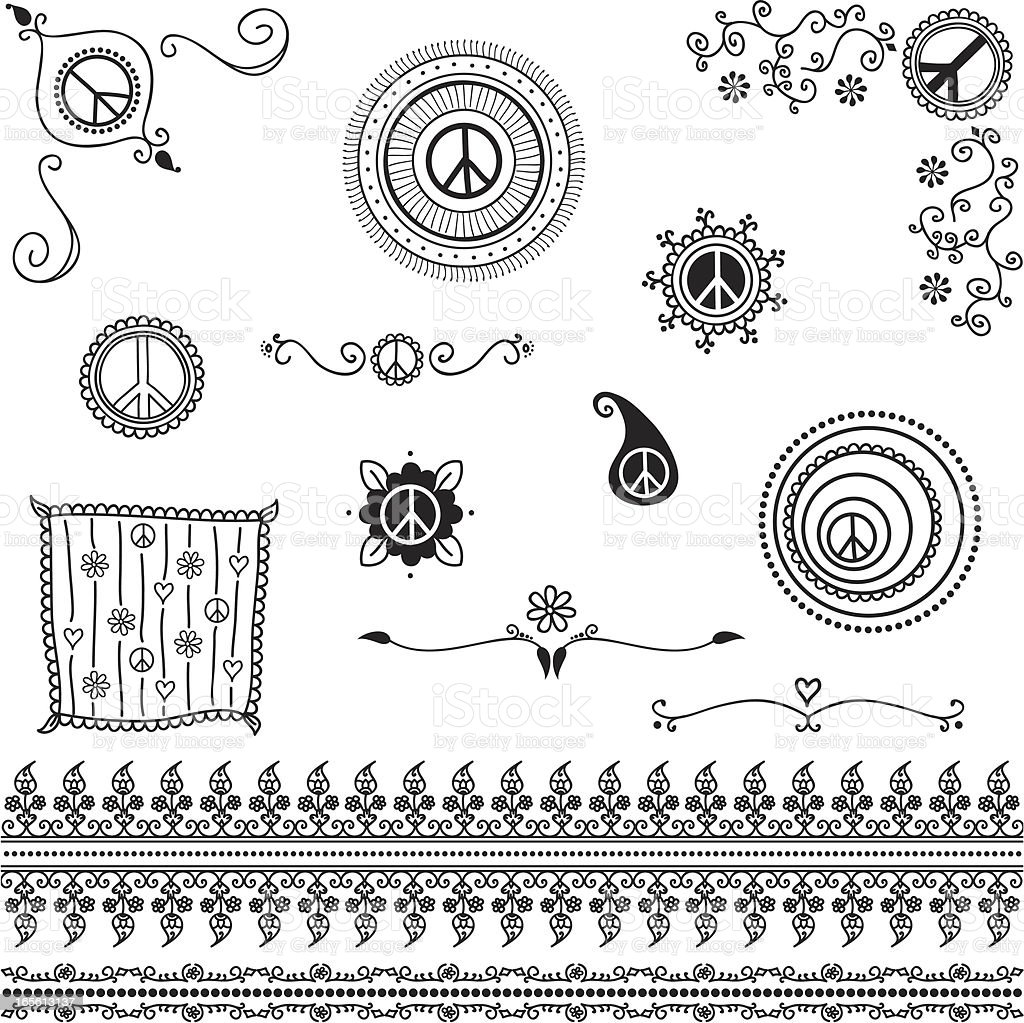 Black Ink Peace Symbols royalty-free black ink peace symbols stock vector art & more images of angle
