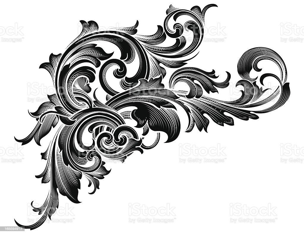 Pergaminhos entrelaçadas pretas ilustração de pergaminhos entrelaçadas pretas e mais banco de imagens de antiguidade royalty-free