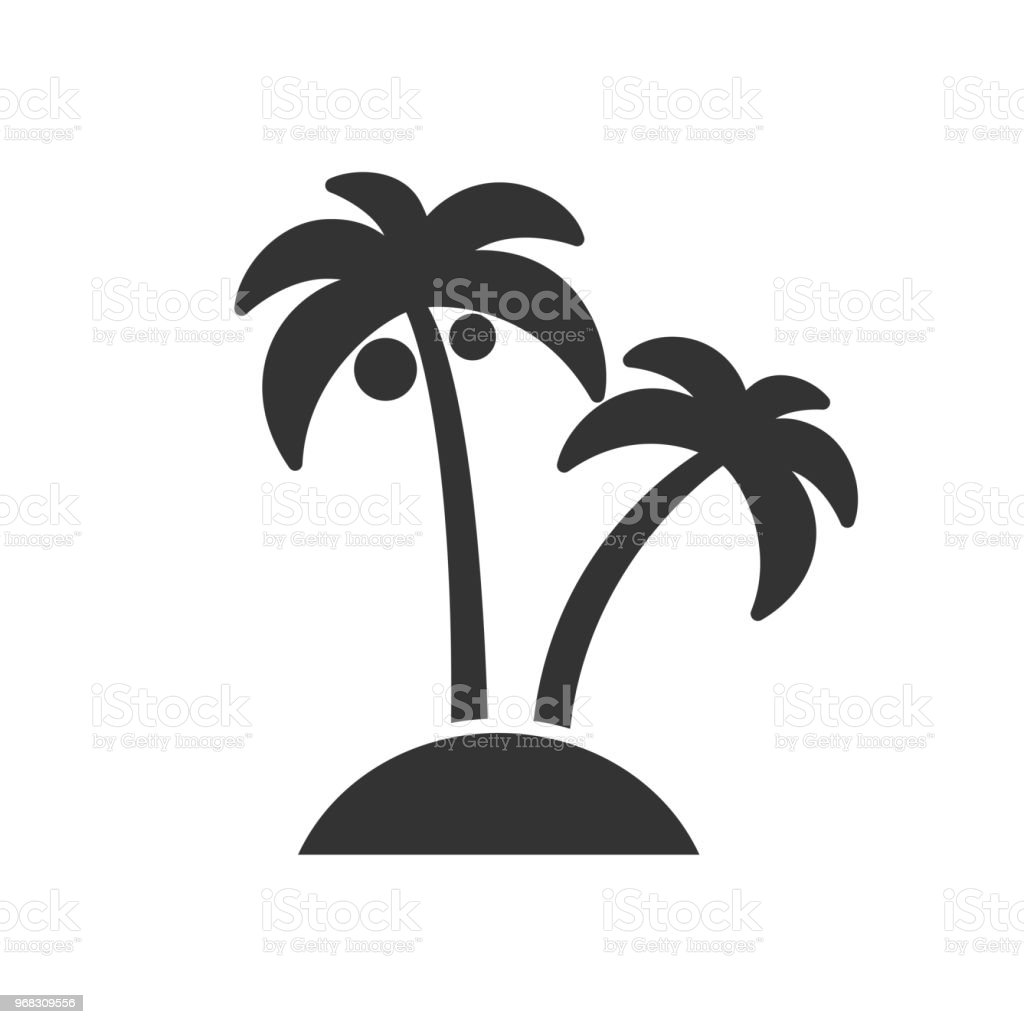 Black isolated icon of palms on white background. Silhouette of palm. royalty-free black isolated icon of palms on white background silhouette of palm stock illustration - download image now