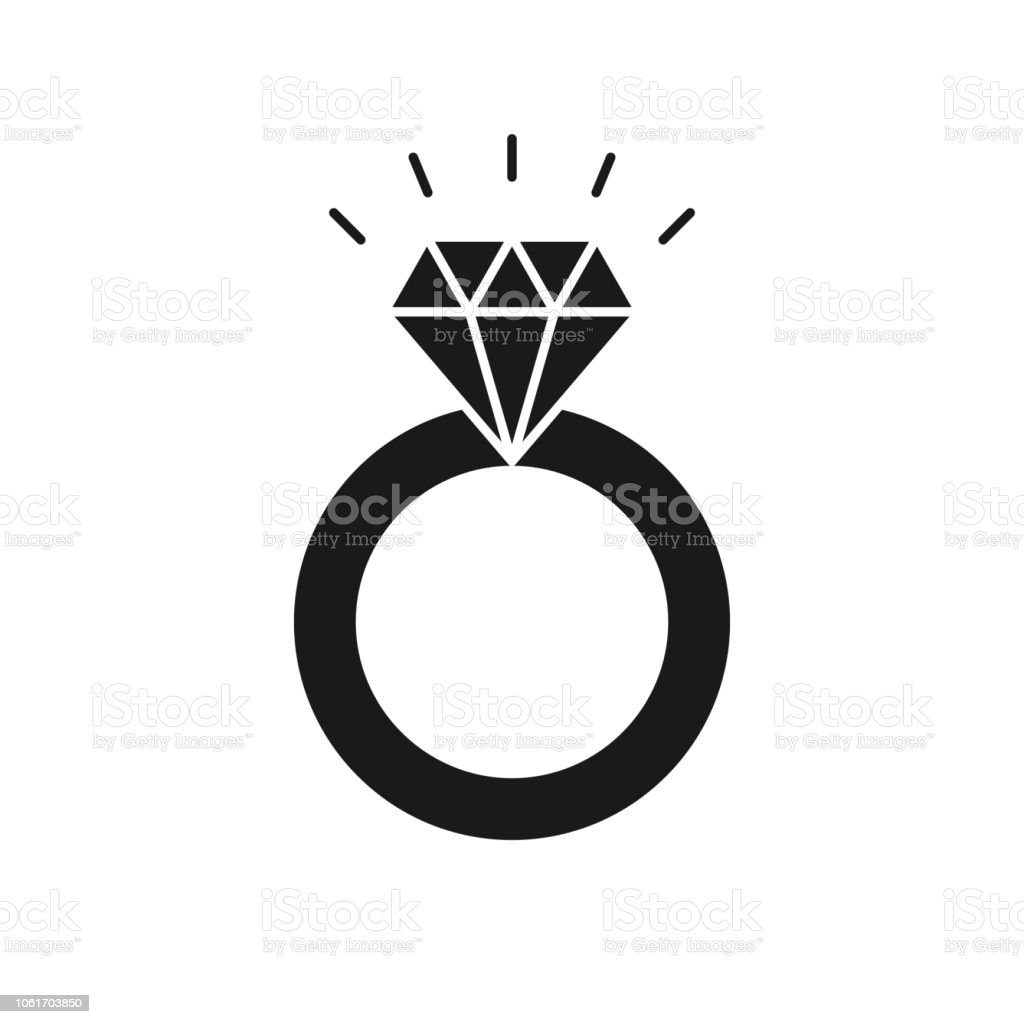 black isolated icon of ring with diamond on white background silhouette of wedding ring flat design stock illustration download image now istock black isolated icon of ring with diamond on white background silhouette of wedding ring flat design stock illustration download image now istock