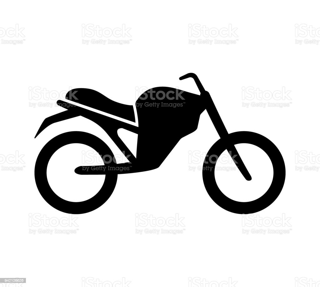 black isolated motorcycle silhouette vector illustration motorbike rh istockphoto com motorcycle clipart silhouette motorcycle silhouette clip art free