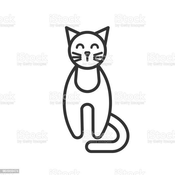 Black isolated outline icon of cat on white background line icon of vector id964959474?b=1&k=6&m=964959474&s=612x612&h=ldbnwxjby udz2u4vdjgjcdju6zo8uiqbdr5vtwbqaa=