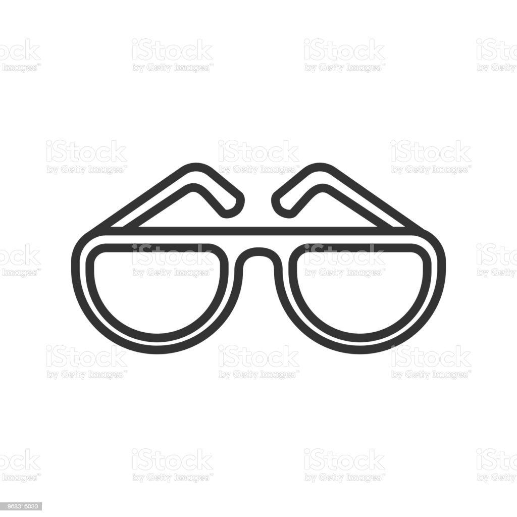 6f6045cc6ed3eb Icône de contour en noir isolé de lunettes de soleil sur fond blanc. Icône  de