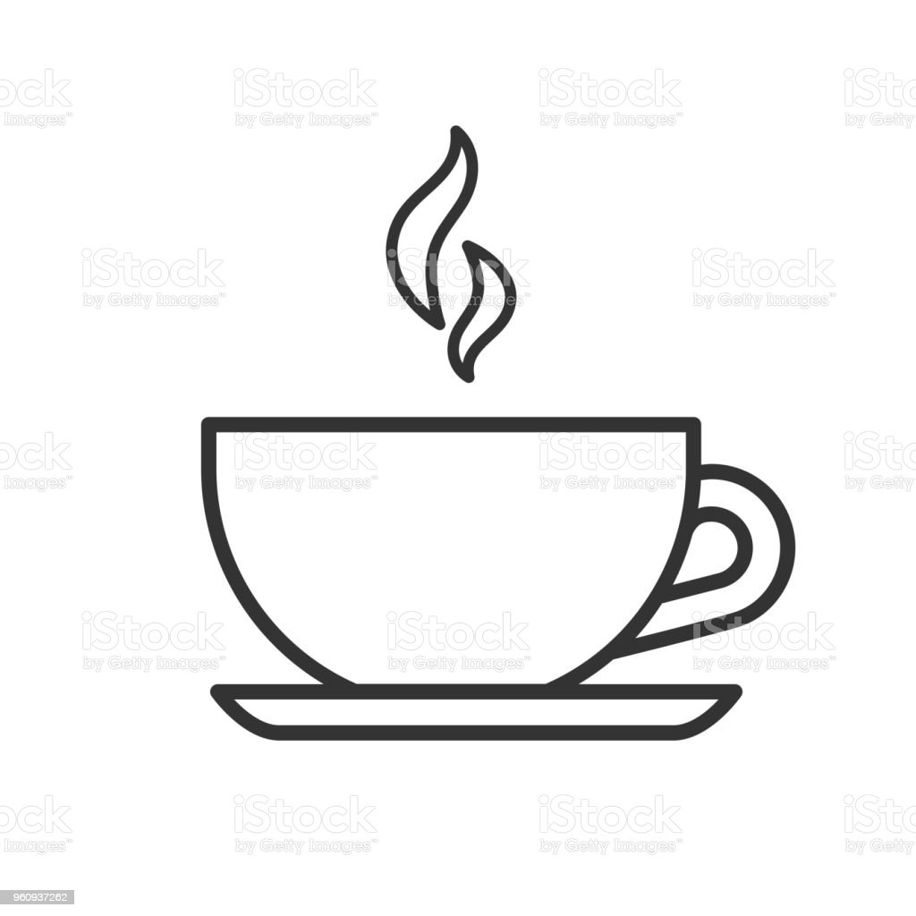 black isolated outline icon of tea cup on white background line icon of teacup stock illustration download image now istock black isolated outline icon of tea cup on white background line icon of teacup stock illustration download image now istock
