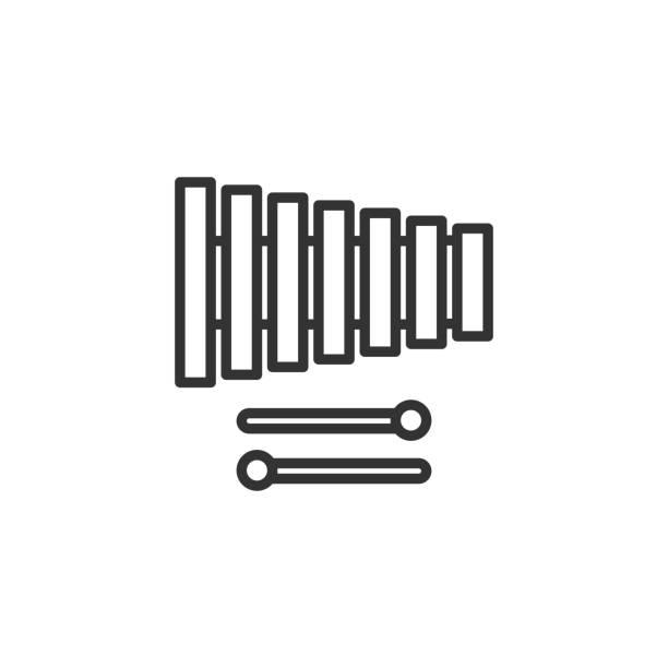 Line Art Xylophone : Royalty free glockenspiel clip art vector images