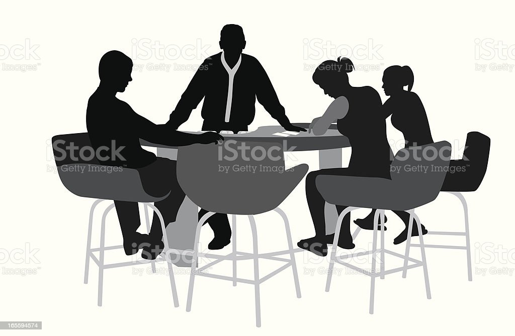 Black Jack Players Vector Silhouette royalty-free stock vector art