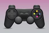 Gamepad icon. Black joystick , isolate on white background