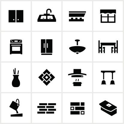 Black Kitchen Remodel Icons