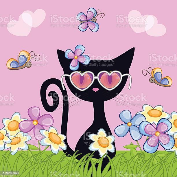 Black kitten with flowers vector id519282963?b=1&k=6&m=519282963&s=612x612&h=b9vozwn34fvjzh9klcryyj pn8inr9phskiabuhs zi=