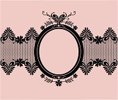 A pretty black lace banner and frame.