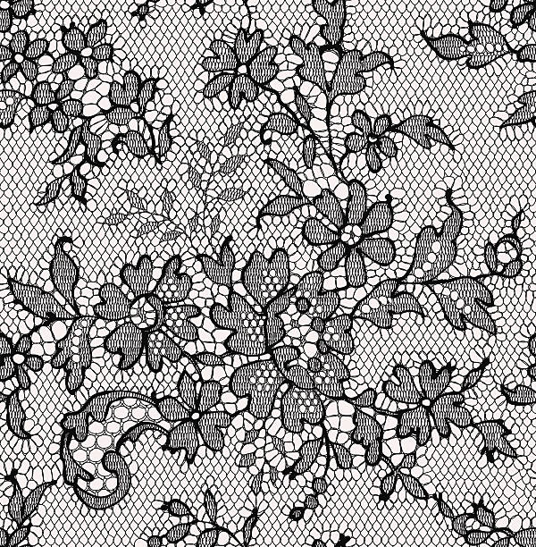 Black lace. Seamless Pattern. Floral Pattern. http://i.istockimg.com/file_thumbview_approve/24560383/1/stock-illustration-24560383-.jpg lace textile stock illustrations