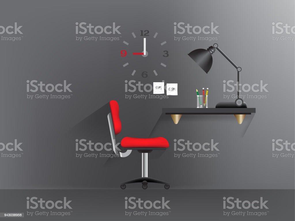 Feu noir sur le bureau u2013 cliparts vectoriels et plus dimages de