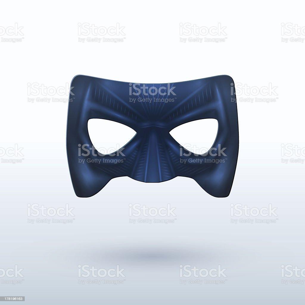 Black Leather Mask for Superhero. vector art illustration