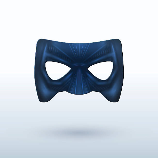 black leather mask for superhero. - mask stock illustrations