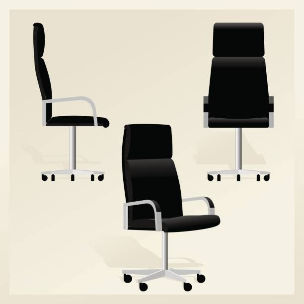 Office Chair Illustrations, Royalty-Free Vector Graphics ... |Clipart Black Leather Chair
