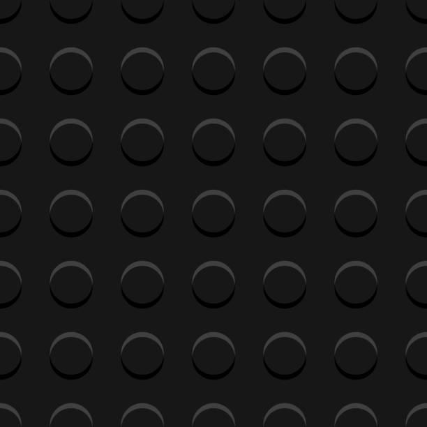stockillustraties, clipart, cartoons en iconen met zwarte lego blokken plaat naadloze patroon, vector - lego