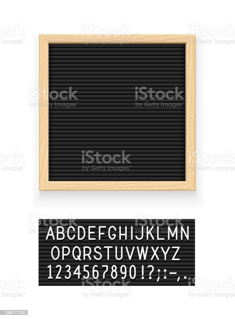 Black letter board royalty-free black letter board stock illustration - download image now
