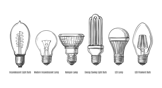 Black lightbulbs sketch