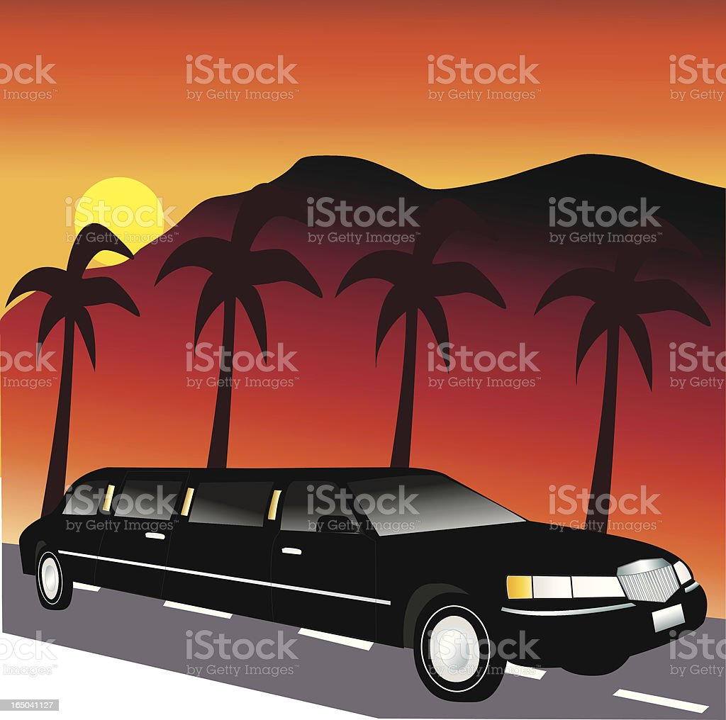 Black Limousine royalty-free stock vector art