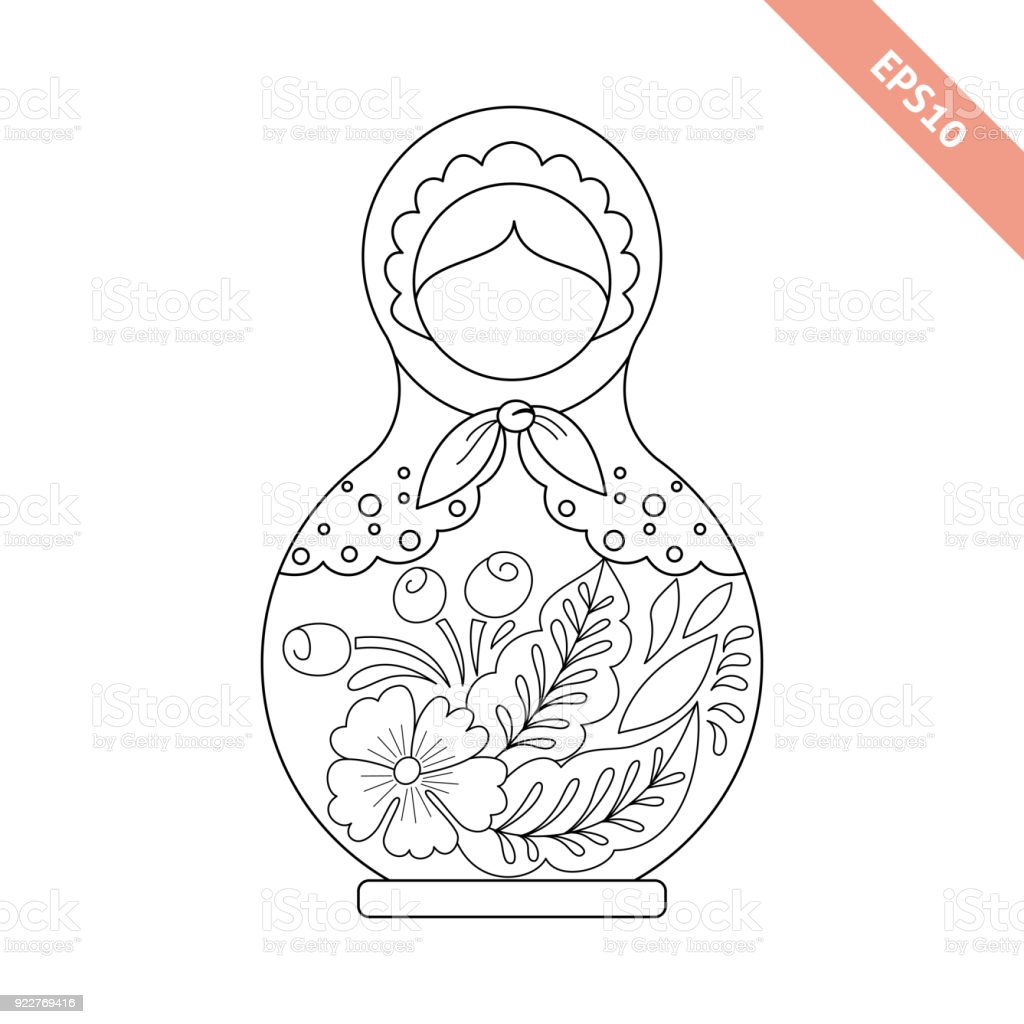 Russia Drawing Babushka Doll Transparent & PNG Clipart Free ... | 1024x1024
