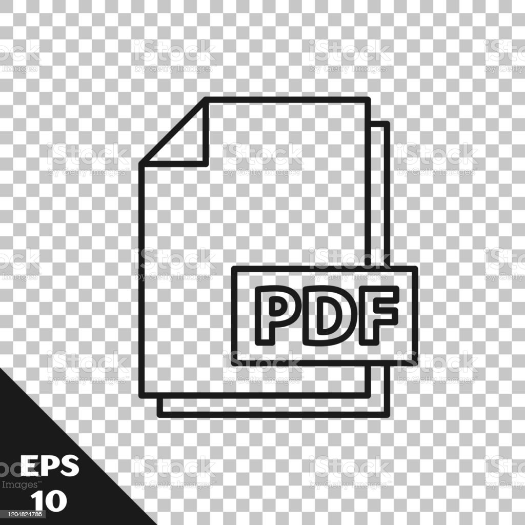 Black Line Pdf File Document Download Pdf Button Icon Isolated On