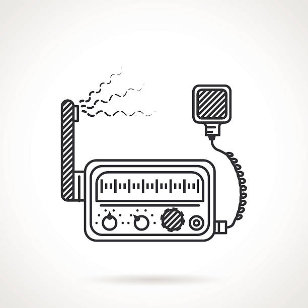 Amateur Radio Illustrations, Royalty-Free Vector Graphics
