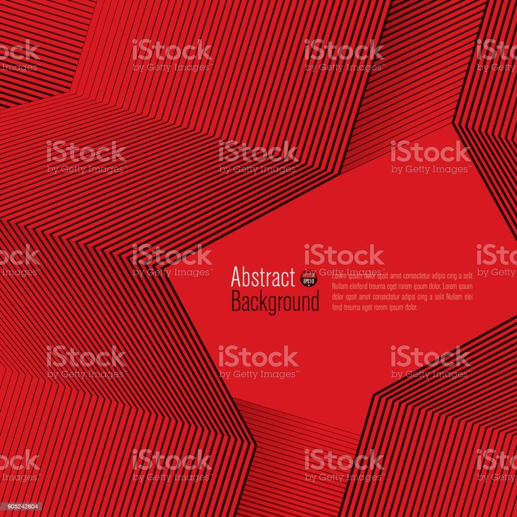 Black lines on red background. Minimal covers design. vector art illustration