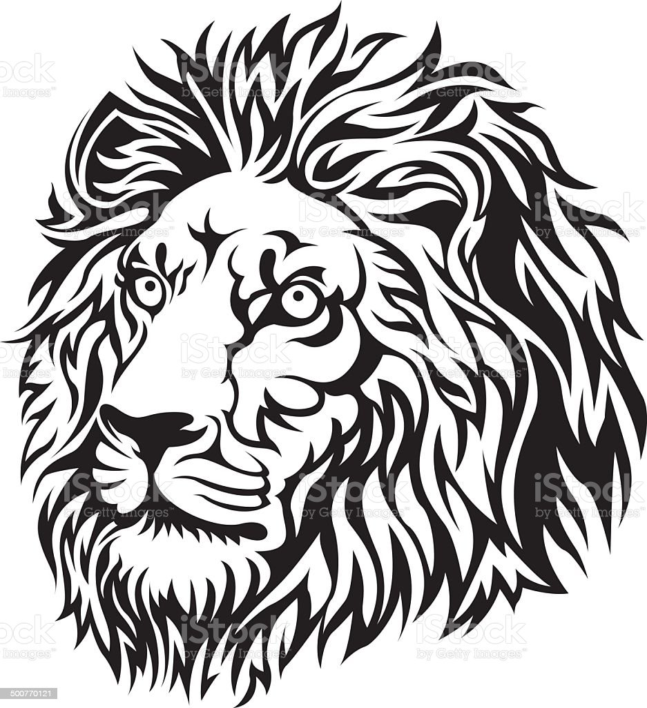 black lion head stock vector art more images of abstract 500770121 rh istockphoto com lion head vector art lion head vector transparent