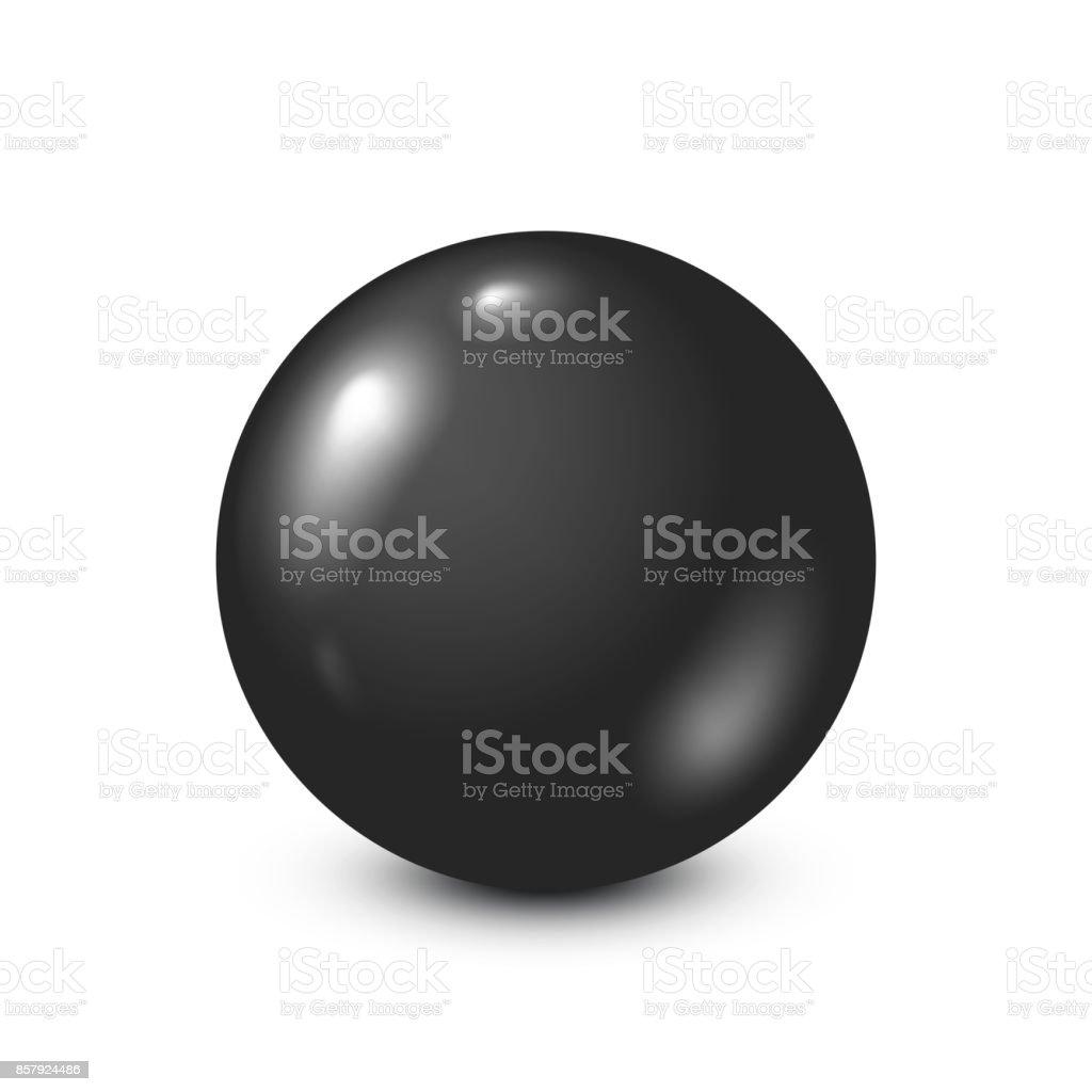 Black lottery, billiard,pool ball. Snooker. White background. Vector illustration vector art illustration