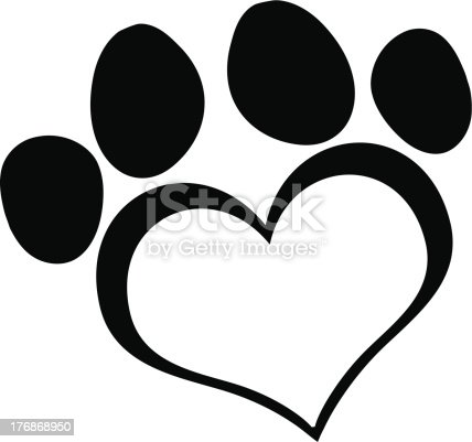 Download Black Love Paw Print Stock Vector Art & More Images of ...
