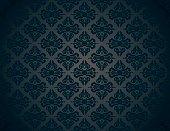 Black luxury ornamental pattern vintage wallpaper background