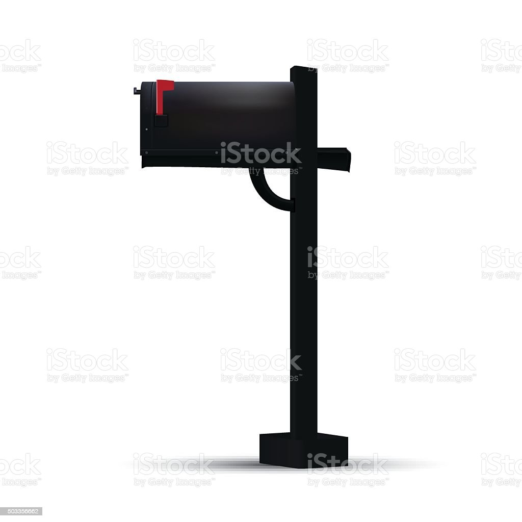 mailbox flag up. Unique Mailbox Black Mailbox With Red Flag Royaltyfree Black Stock  Vector Art With Mailbox Flag Up U