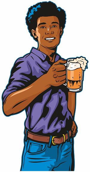 Black Man With Beer