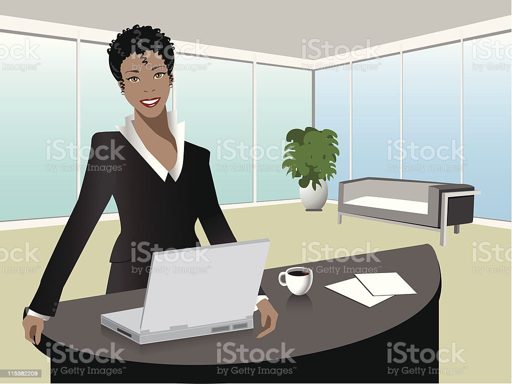 black manager royalty-free stock vector art
