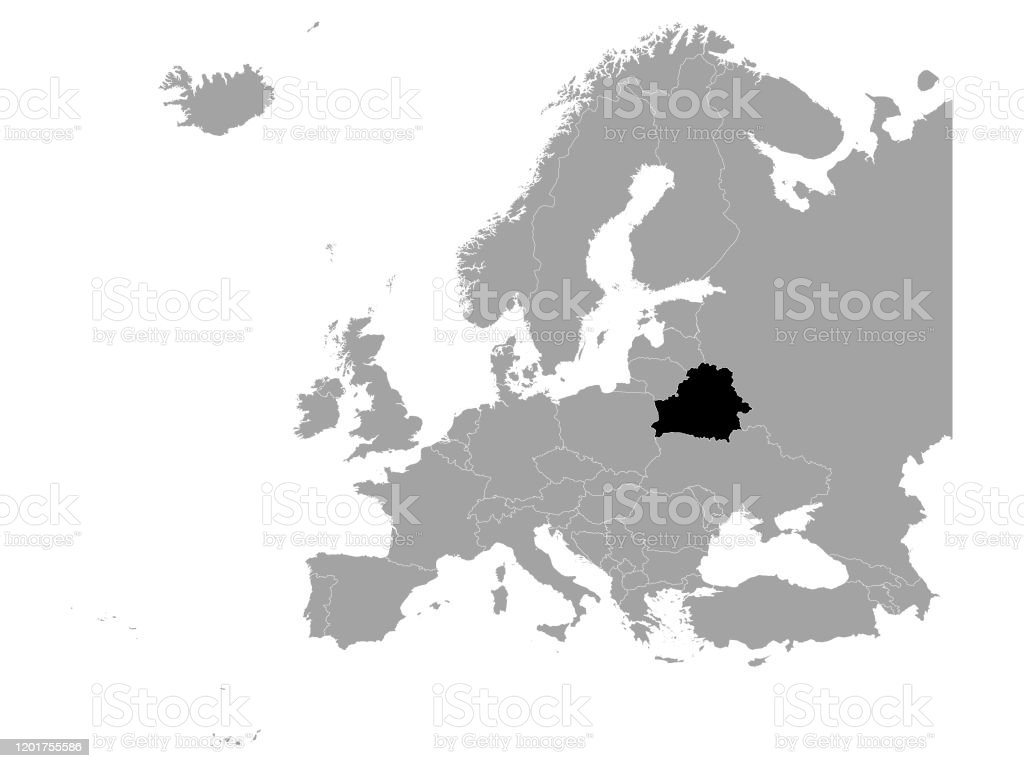 Picture of: Black Map Of Belarus Stock Illustration Download Image Now Istock