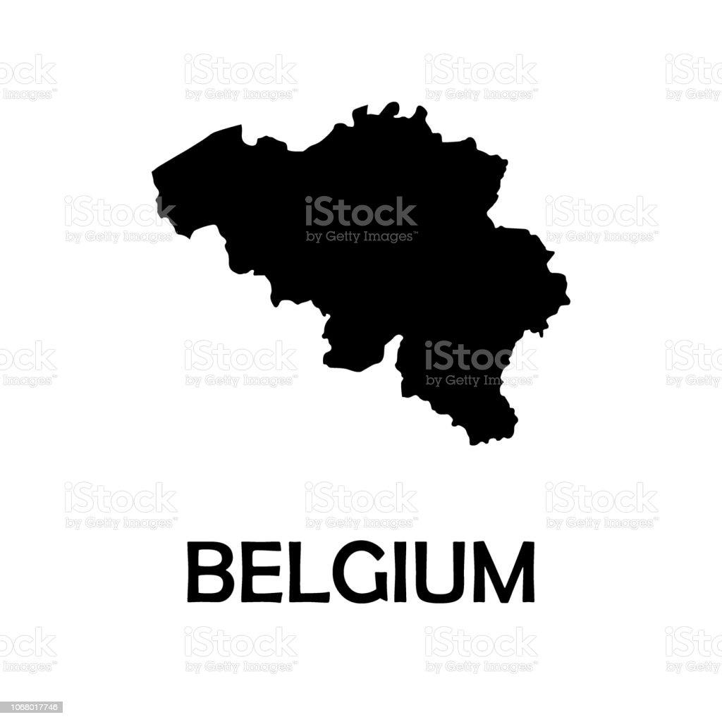 Carte Belgique Noir Et Blanc.Carte Noir De Belgique Vecteur De Fond Blanc Vecteurs Libres