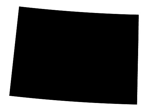 Vector illustration of Black Map of Colorado