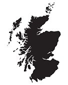 istock black map of Scotland 500029790