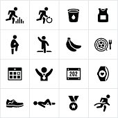 Black Marathon Icons