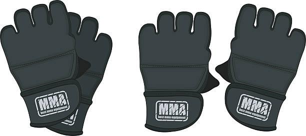 black martial arts-handschuhe - schutzhandschuhe stock-grafiken, -clipart, -cartoons und -symbole