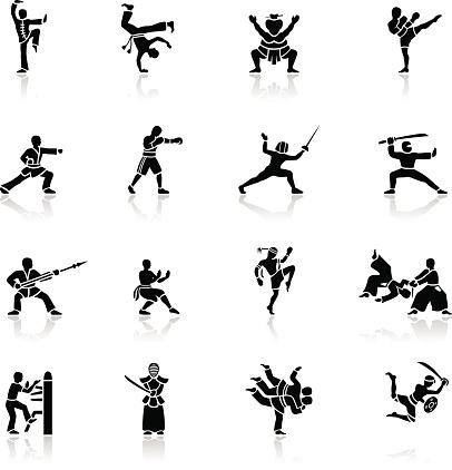 Black Martial Arts Icons