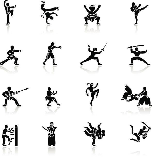ブラックの武術のアイコン - 武道点のイラスト素材/クリップアート素材/マンガ素材/アイコン素材