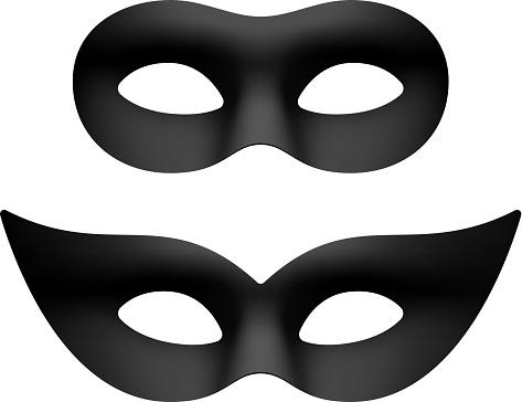 Black masquerade eye masks