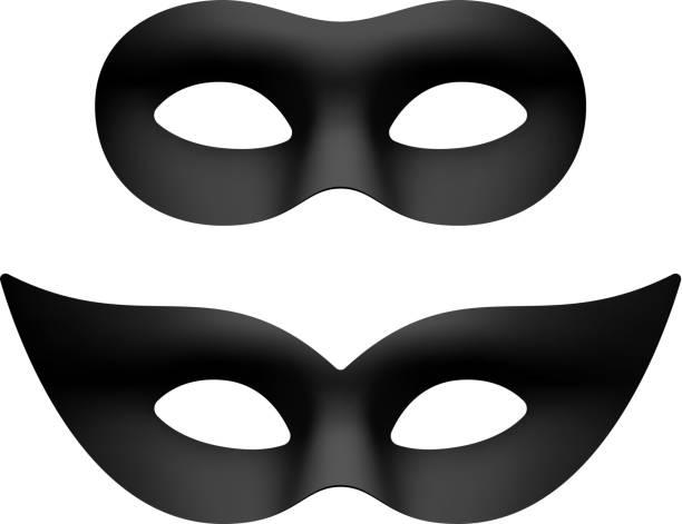 Máscaras baile de ojos negro - ilustración de arte vectorial