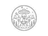 Black Meditation Elevation Cow zen vector illustration on white background for any use